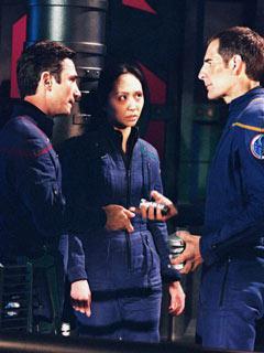 Reed, Hoshi e Archer si prepapano a tentare di distruggere l'arma Xindi in <i>Zero hour</i>