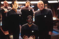 Una delle prime foto di scena distribuite per Star Trek Nemesis