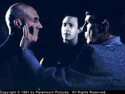 Picard con Spock, nell'episodio <i>Il segreto di Spock</i>