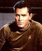Jeffrey Hunter nella parte del capitano Pike