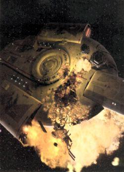 Una spettacolare immagine dall'episodio <i>La Valiant</i>. Gli effetti visivi digitali sono opera della Digital Muse, che lavora alla serie in coppia con la Foundation Imaging.