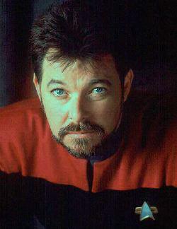 Jonathan Frakes nel ruolo di Riker