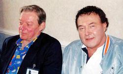 Ed Bishop e Michael Billington alla Deepcon del 2003