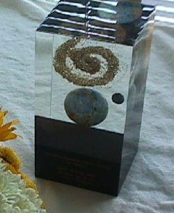 La scultura che viene consegnata ai vincitori del premio Nebula