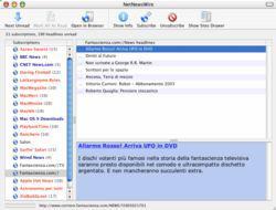 Una schermata da NetNewsWire, per MacOSX