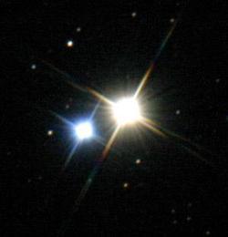 Albireo, una delle stelle doppie più luminose.