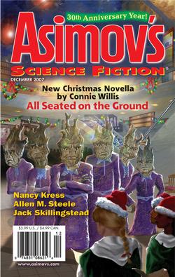 La copertina (davvero orrenda a nostro avviso) dell'ultimo numero della <i>Asimov's</i>