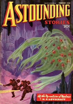 La copertina del primo numero di Astounding Stories in cui è stata pubblicata la prima parte del romanzo.