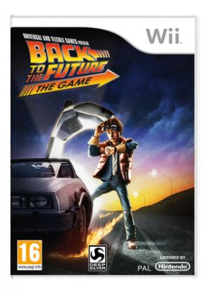 La copertina di Back to the Future: The Game per Wii. Il gioco è disponibile anche per Pc e Ps3.