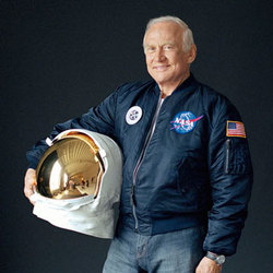 L'astronauta dell'Apollo 11 Buzz Aldrin