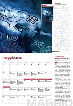 Una pagina del Fantacalendario 2008