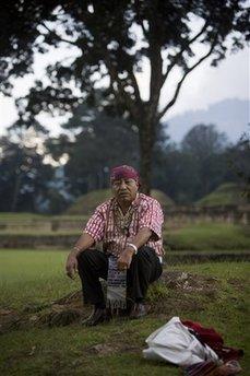 Un moderno Maya abitante in Guatemala.