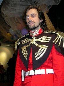 Francesco Miranda, ovviamente in costume ispirato alla serie di Gundam