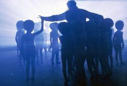"""Fotogramma dal film di Spielberg: """"Incontri ravvicinati del III tipo"""""""