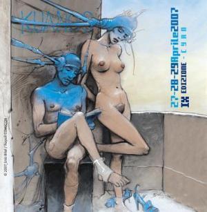 La locandina di Napoli Comicon 2007, disegnata da Enki Bilal