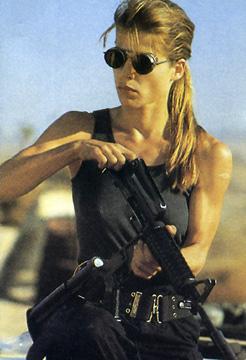 Sarah Connor, al secolo Linda Hamilton.