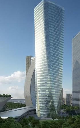 Il Delos Building A a Milano, nella vecchia zona Fiera. Gli uffici di Fantascienza.com occupano gli ultimi sette piani.