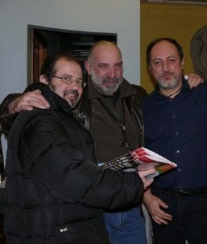 Nella foto, con Stefano Di Marino (a sinistra), Sergio Altieri e Franco Forte (a destra)