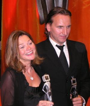 Christopher Eccleston e la produttrice  di <i>Perfect Parents</i> Nicole Cauvernier (foto: Antonio Delle Site)