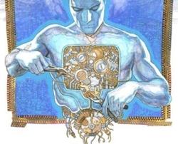 Un primo art work relativo al fumetto La Formica elettrica