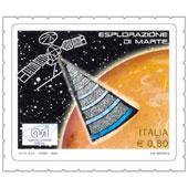 Il francobollo celebra l'importante collaborazione italiana per le ricerche su Marte