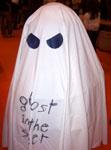 Il fantasmino di Ghost In The Sheet allo stand di Adventures Planet