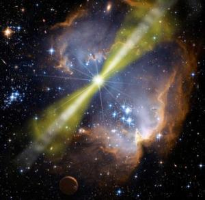 Rappresentazione artistica di un Gamma-Ray burst