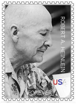 Un possibile francobollo con Robert Heinlein