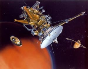 Il momento del distacco della Huygens dalla Cassini (Credits: ESA)