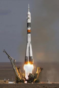 Il lancio della Soyuz TMA-13 da Baikonur con a bordo Richard Garriott (Fonte: Roskosmos)