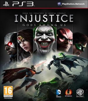 La copertina di Injustice in versione Ps3