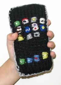 Un iPhone... fatto a maglia