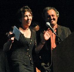 Un momento della premiazione degli Italian DVD Awards, con Serena Dandini e Stefano Della Casa