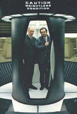 "A.C. Clarke e Kubrick sul set di ""2001"""