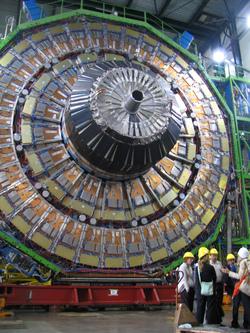 Il rivelatore dell'esperimento ATLAS.