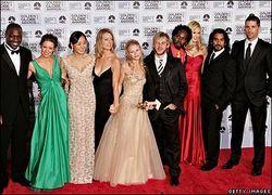 Il cast di <i>Lost</i> col Golden Globe vinto lo scorso anno