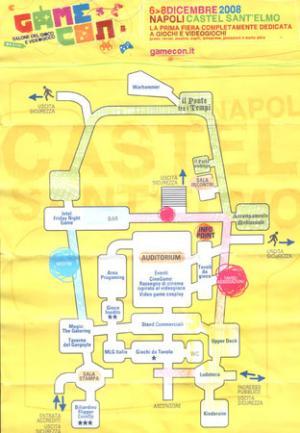 La mappa fornisce un'idea sulla disposizione degli stand. Ma solo un'idea