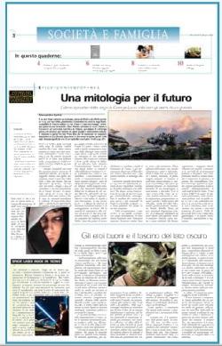 La pagina di Azione del primo giugno dedicata a <i>Star Wars</i>