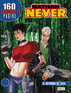 La copertina dello Speciale n. 16 di Nathan Never, firmata da Roberto De Angelis.