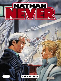 La copertina del numero 187 di Nathan Never, illustrata da Roberto De Angelis.