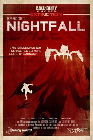 Il poster di Nightfall, l'episodio 1 di Extinction