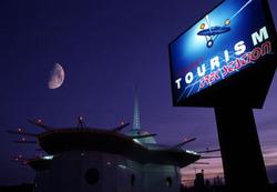 "La ""Trek Station"", sorta di pro loco in stile Star Trek a Vulcan, Alberta"