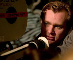 Christopher Nolan sul set di <i>Inception</i>.