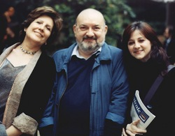Vittorio Curtoni tra Giuliana Nuvoli e Chiara Orlandi. Foto di Giuseppe Festino