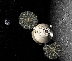 Una rappresentazione grafica del nuovo vettore spaziale Orion, messo a punto dalla Lockheed Martin.