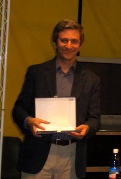 Il vincitore del premio Alien, Valentino Peyrano