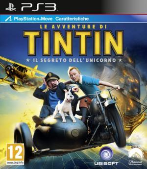 La copertina del gioco in versione Ps3. Il videogame di Tintin è disponibile anche per Pc, Xbox 360, Wii e 3Ds.