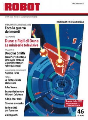 La copertina di Robot 46: l'illustrazione è di Giuseppe Festino