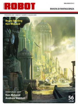 Una prova di copertina per Robot con un'illustrazione di Stephan Martiniere