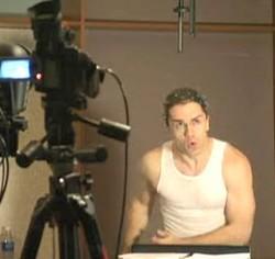Sam Witwer durante una seduta di motion capture